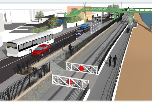 Artists impression of the MetroBus alongside the New Cut