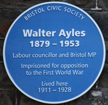 Walter Ayles Blue Plaque