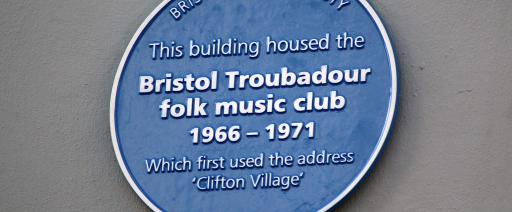 Troubadours Blue Plaque