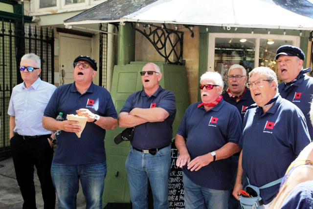 Storm Force 10 sing lusty sea shanties