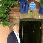 Professor Robin Jarvis reveals the plaque
