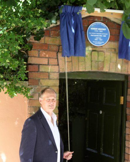Professor Robin Jarvis reveals the plaque