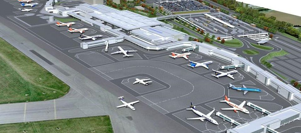 Future layout of the airport