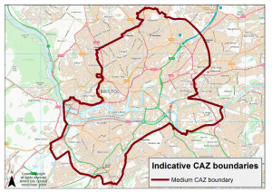 Medium CAZ boundary map