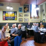 Visitors enjoy lunch with BCS members